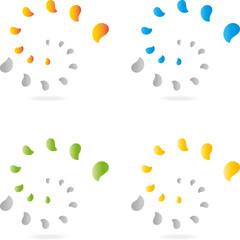 Logo, 3D, Spirale, abstract swirly