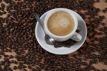 Cup of regular coffee.