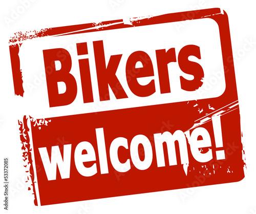 Fototapete Bikers welcome!