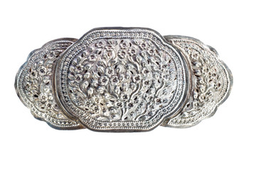 vintage silver buckle for woman dressing .