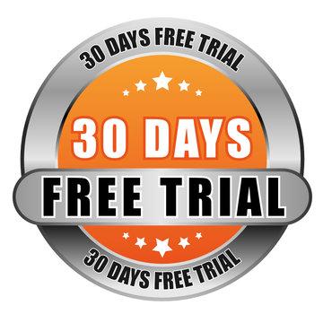 5 Star Button orange 30 DAYS FREE TRIAL DTO DTO