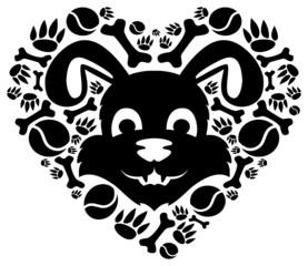 love dog symbol.