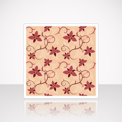 Card with Floral Seamless Pattern