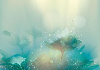 Beautiful abstract landscape / Magic floral background