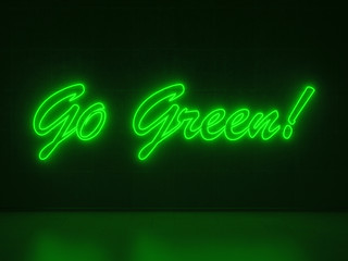Go Green - Series Neon Signs