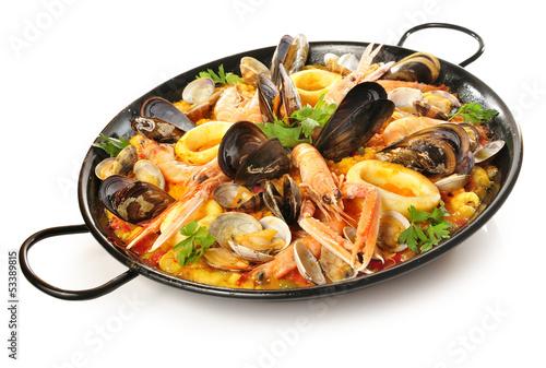 Spanish food paella