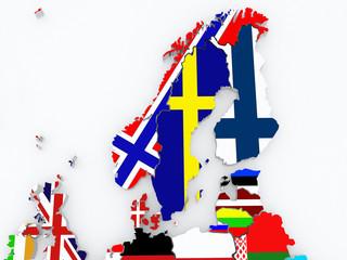 Map of Scandinavia.