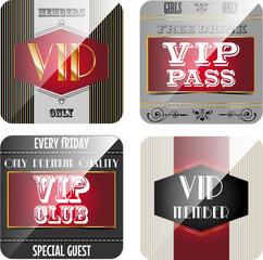 Vintage VIP cards