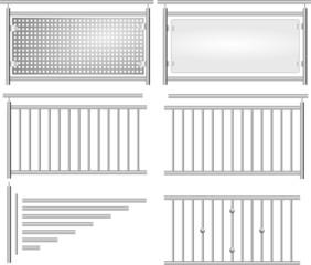 Geländer V2a Bausatz Set