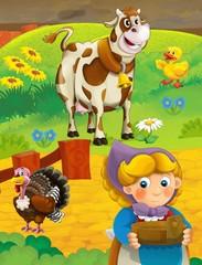 The farm life - illustration for the children