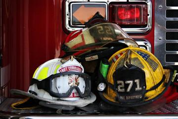 Firemans helmets