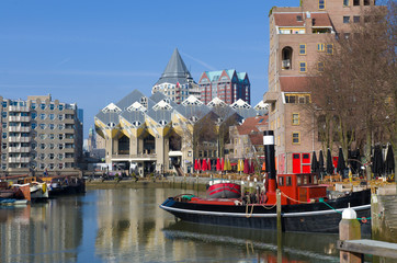 Deurstickers Rotterdam old port of Rotterdam