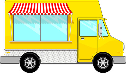 yellow food bus