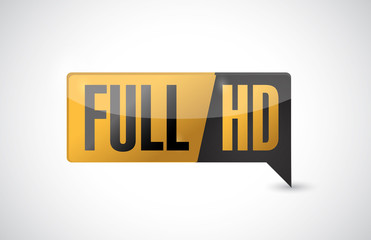 Full HD. High definition button. illustration