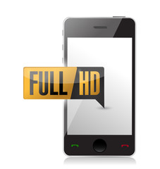 smartphone with Full HD. High definition button.