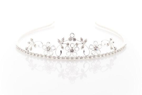 Wedding tiara with crystals