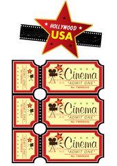 Hollywood USA movie illustration icon