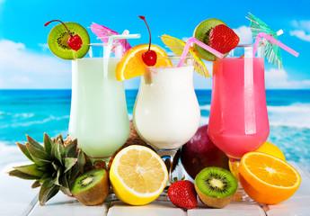 Obraz fruits cocktails - fototapety do salonu