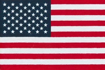 American  Flag.  Miniature  version printed in bright colors on