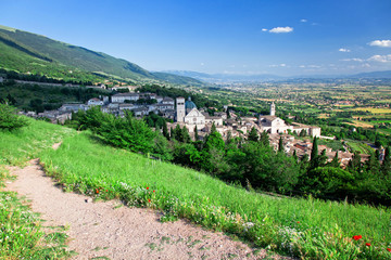 Fototapete - assisi view