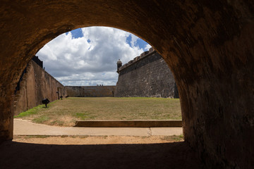 El Morro Fort Watch Tower  viewed though tunnel