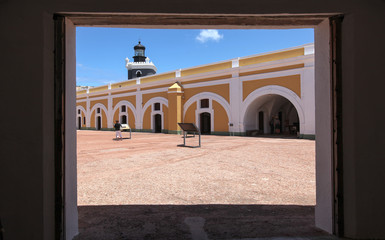 interior of El Morro Fort
