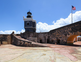 LIghthouse at  El Morro Fort