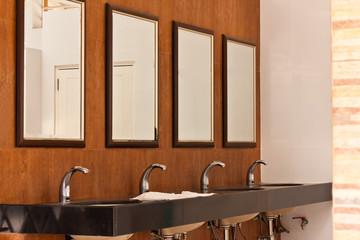 mirror in toilet
