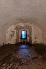 exterior window at Fort San Felipe del Morro, Puerto Rico..