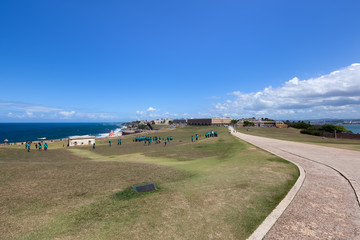 Old San Juan viewed from El Morrow fort