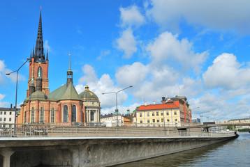 Stockholm. Island Riddarholmen quay
