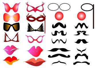 Mustache glasses mouths