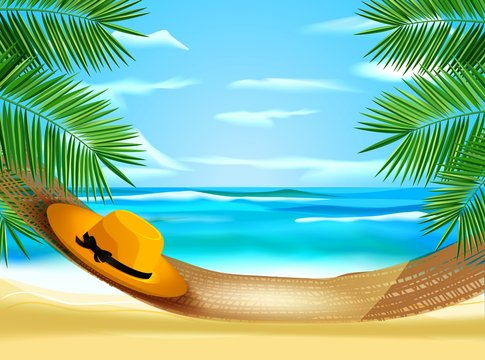 Гамак на берегу моря
