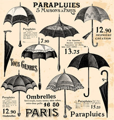 Foto op Plexiglas Doodle Vintage umbrella background