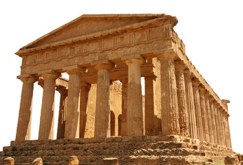 Greek Temple, Valley of the Temples, Agrigento, Sicily, Italy