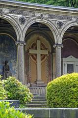 Friedhofskreuz - Bemalung