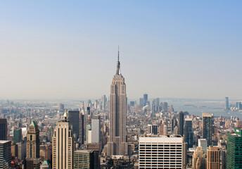 Photo sur Aluminium New York Daytime View of New York Skyline