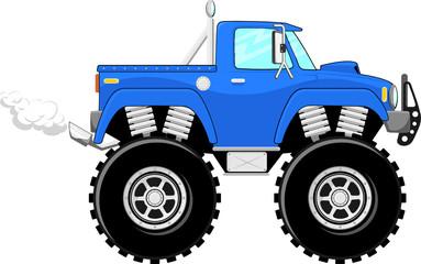 monster truck cartoon vector