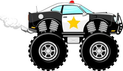 4x4 monstertruck police car cartoon