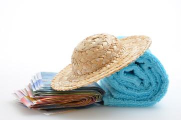 Sommerurlaub Geld Hut