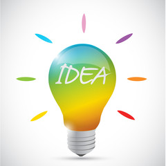 colorful idea lightbulb illustration design