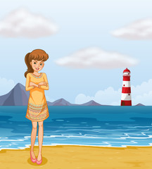 A pretty girl at the beach