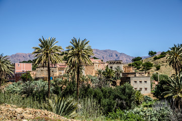 Morocco, Village in the Anti-Atlas mountains