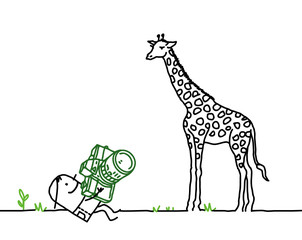 photographer & giraffe