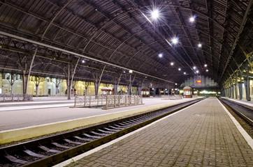 Aluminium Prints Train Station Railway station