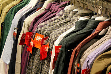 Shopping Sale - male shirts / -50% discount
