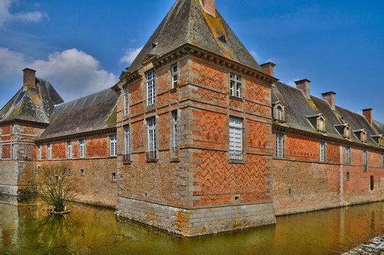 renaissance castle of Carrouges in Normandie