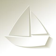 Segelboot Papier Weiss
