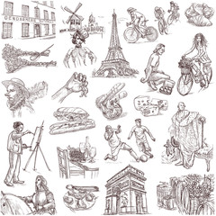 France - traveling collection (full sized hand drawings)