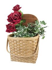 Basket Full of Red Roses